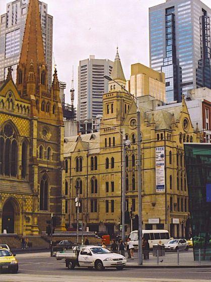 Corner of Flinders and Swanston Street