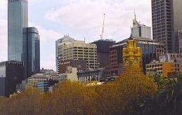 Melbourne CBD in Autumn