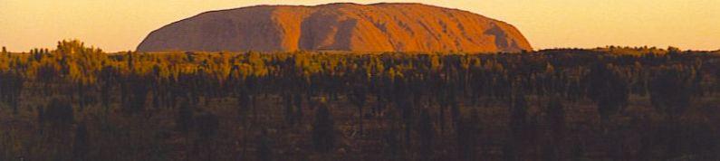 Sunset on Ayer's Rock (Uluru)