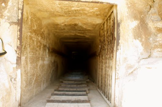 Getting to the burial chamber inside the pyramid is not for the faint hearted...