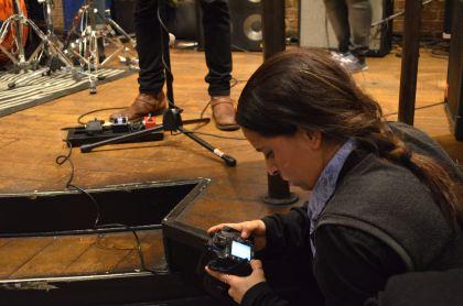 Ayelet taking pictures